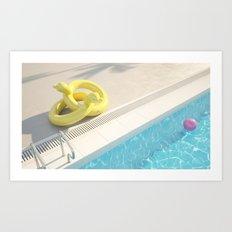 Floaties Holiday Resort- Duck Art Print