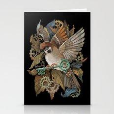 Clockwork Sparrow Stationery Cards