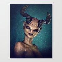 Female Demon Canvas Print