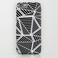 Ab lines Zoom Black and Silver iPhone 6 Slim Case