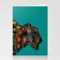 bison teal Stationery Cards