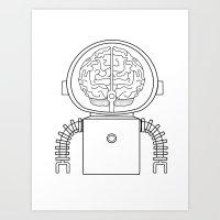 RobotSpaceBrain Art Print