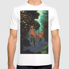 Bike Tour Mens Fitted Tee White SMALL