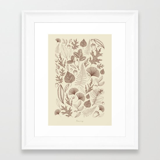 Study of Growth Framed Art Print