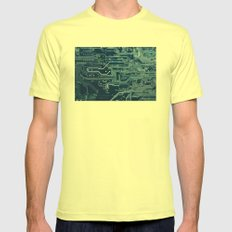 Electronic circuit board Mens Fitted Tee Lemon SMALL