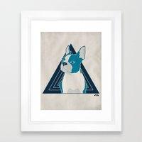 In Dog We Trust. Framed Art Print