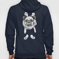 Pug in Space Silly Doodle Hoody