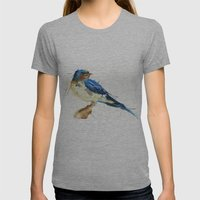 Swallow Womens Fitted Tee Athletic Grey SMALL