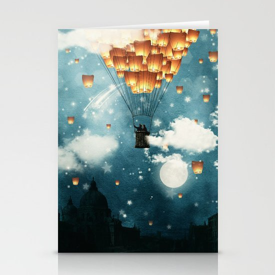 Where all the wishes come true Stationery Card