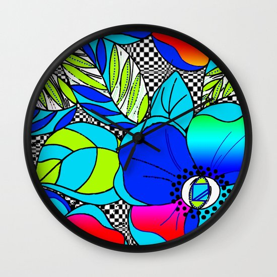 Wild Popppies Wall Clock