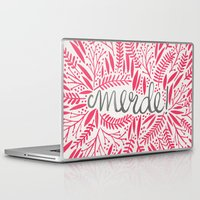french Laptop & iPad Skins featuring Pardon My French – Pink by Cat Coquillette
