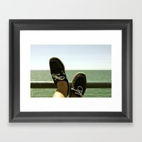 Feet At Sea Framed Art Print
