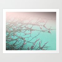 Delicately Pink Art Print