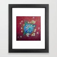 the planet of the lights Framed Art Print