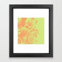 Wildflower Pattern Framed Art Print
