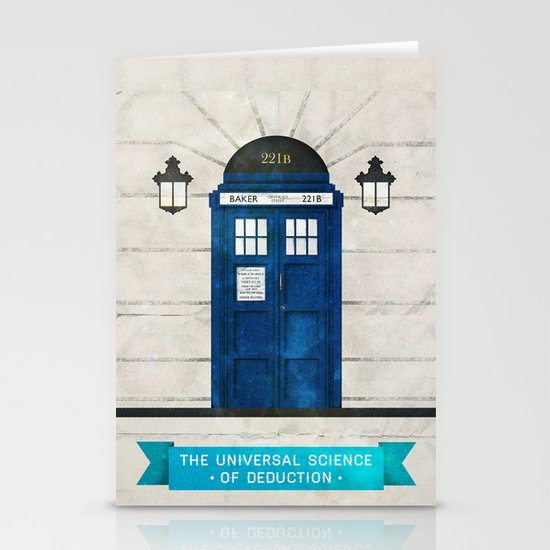 Doctor Who & Sherlock Stationery Card