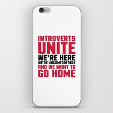 Introverts Unite Funny Quote iPhone & iPod Skin