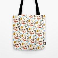 Fox, Bear And Rabbit Tote Bag