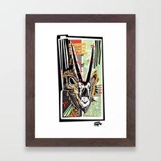 Oryx the Gemsbok Framed Art Print