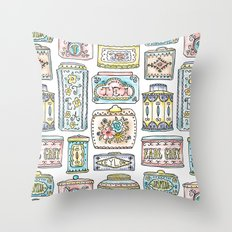 Tea Tins Throw Pillow