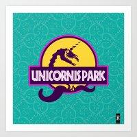 Unicornis Park Art Print