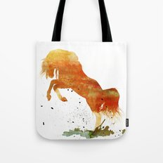 HORSES -Wild mountain pony Tote Bag