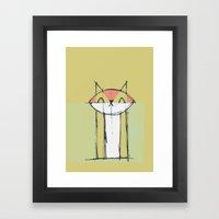 Cubist Cat Study #4 by Friztin Framed Art Print