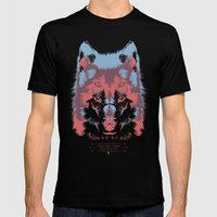WOLF 3D Mens Fitted Tee Black SMALL