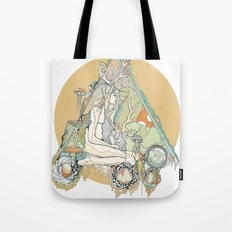 orange mushroom Tote Bag