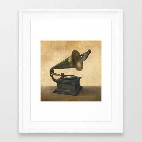 Vintage Songbird Framed Art Print