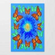 Blue Daisy Monarch Butte… Canvas Print