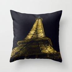Eiffel Tower @ Night Throw Pillow