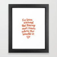 i've been around the teacup (orange) Framed Art Print