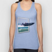 Offshore Addiction Speeds Out Of Frame Unisex Tank Top