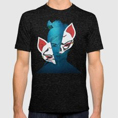 Fox Mask Mens Fitted Tee Tri-Black SMALL