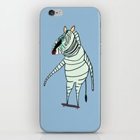 Zebra Dude iPhone & iPod Skin