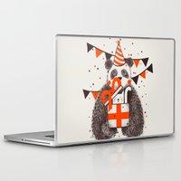birthday Laptop & iPad Skins featuring Happy Birthday by Tobe Fonseca