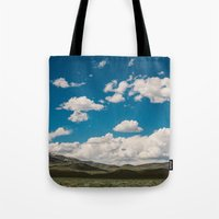Puffy White Clouds With … Tote Bag
