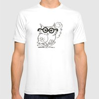 #1 Mens Fitted Tee White SMALL