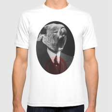 Koala Yawn White Mens Fitted Tee SMALL