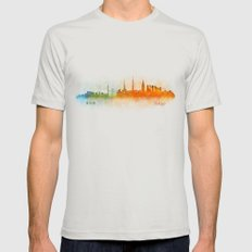 Tokyo City Skyline Hq V3 Mens Fitted Tee Silver SMALL