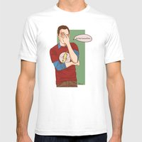 Sheldon Cooper Facepalm Mens Fitted Tee White SMALL