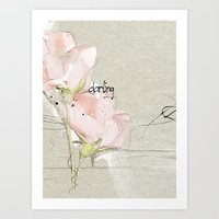 soft magnolia Art Print