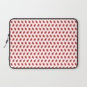 rhombus bomb in poppy red Laptop Sleeve