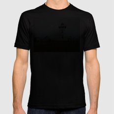 North-Rustico Lighthouse Mens Fitted Tee Black SMALL