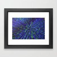 Lazer show  Framed Art Print