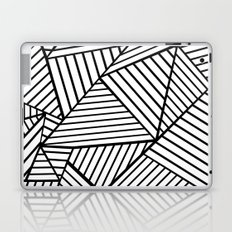 Abstraction Lines Close Up Black and White Laptop & iPad Skin