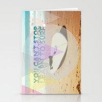 you can't stop the waves, but you can learn to surf Stationery Cards