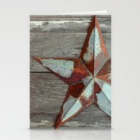 Primitive Rusty Star Stationery Cards