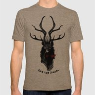 Eat The Rude Mens Fitted Tee Tri-Coffee SMALL